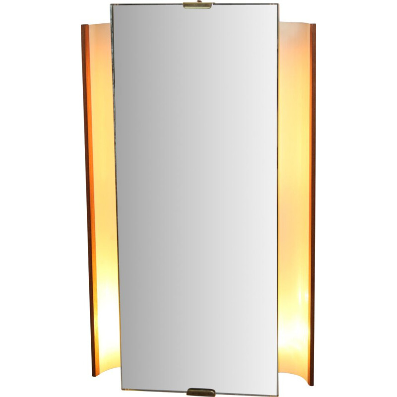 Vintage Illuminated Wall Mirror by Ernset Igl for Hillebrand, 1950s