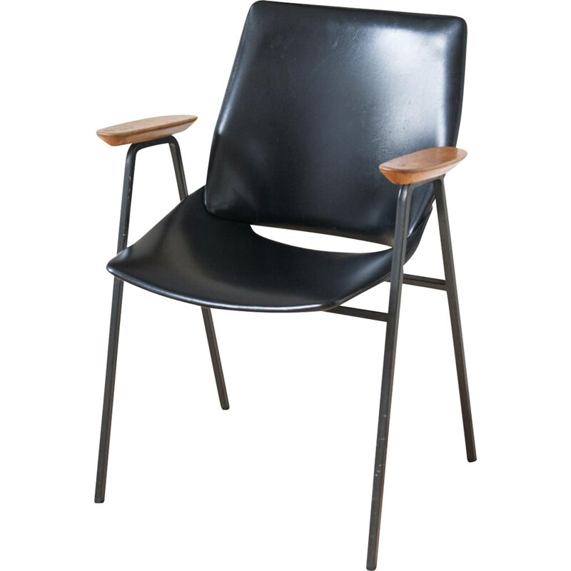 Set of 2 Black Shell Dining Chairs by Niko Kralj for Stol