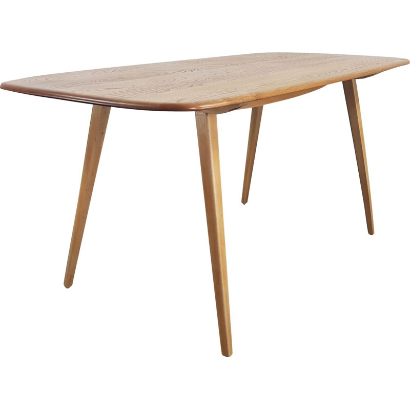 Mid Century Plank Dining Table by Lucian Ercolani for Ercol, 1960s