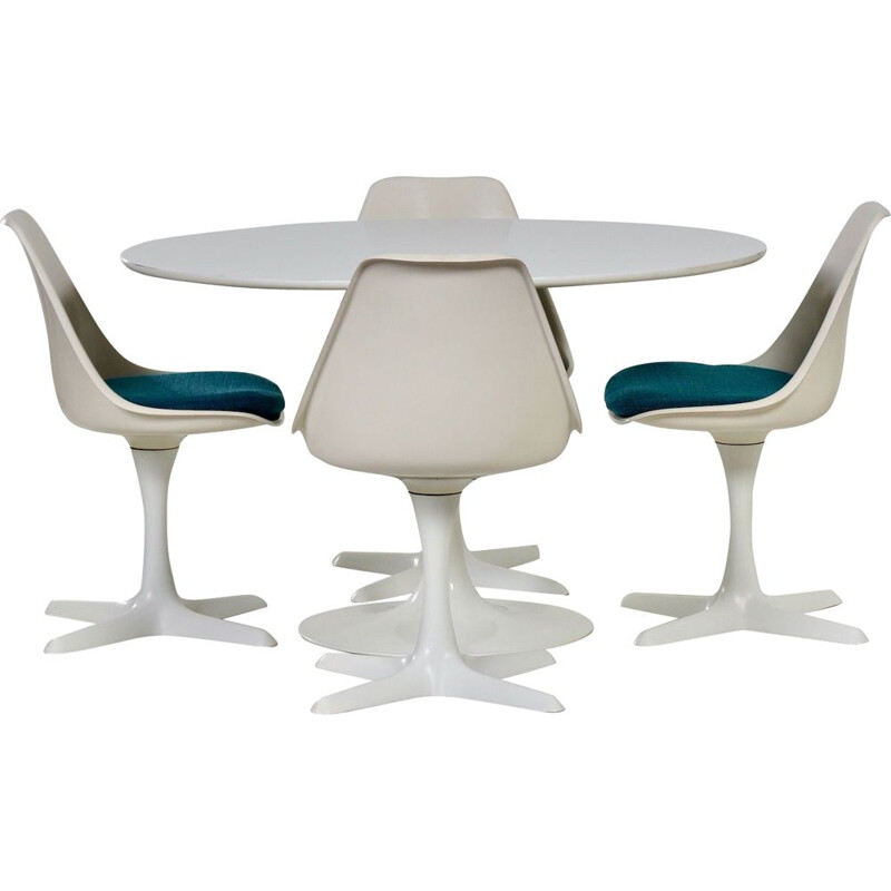 Vintage Tulip Dining Set by Maurice Burke for Arkana, 1960s