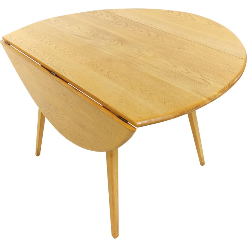 Vintage Dining Table by Ercol in Blonde Solid Beech & Elm
