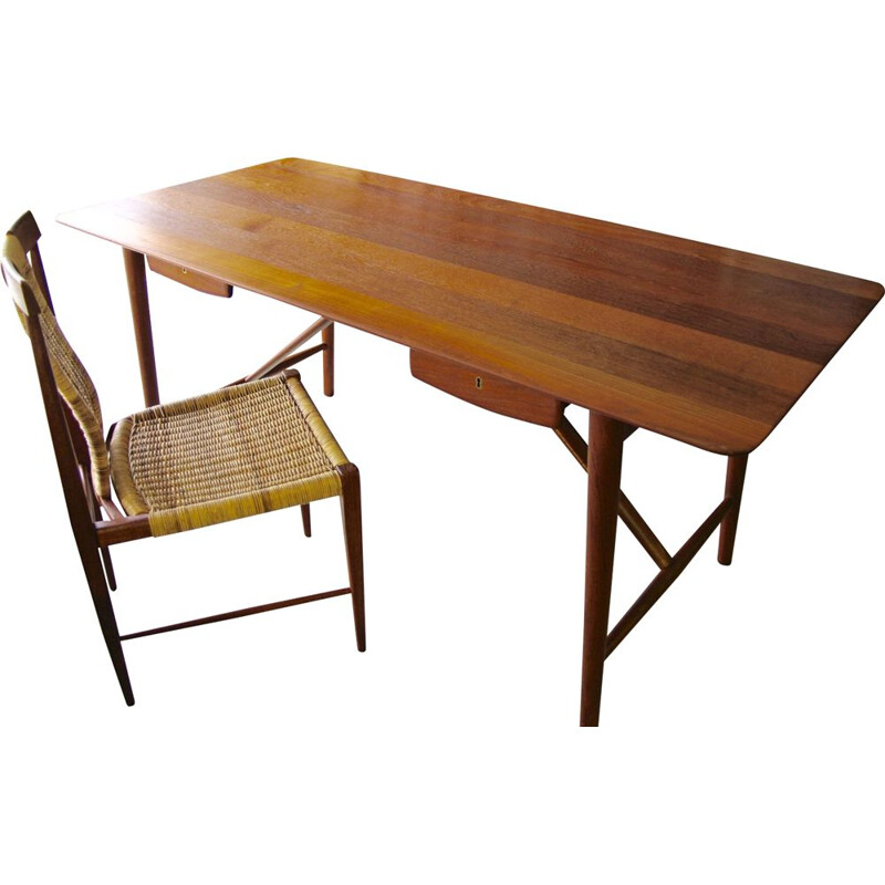 Vintage teak desk by Peter Hvidt from 1955