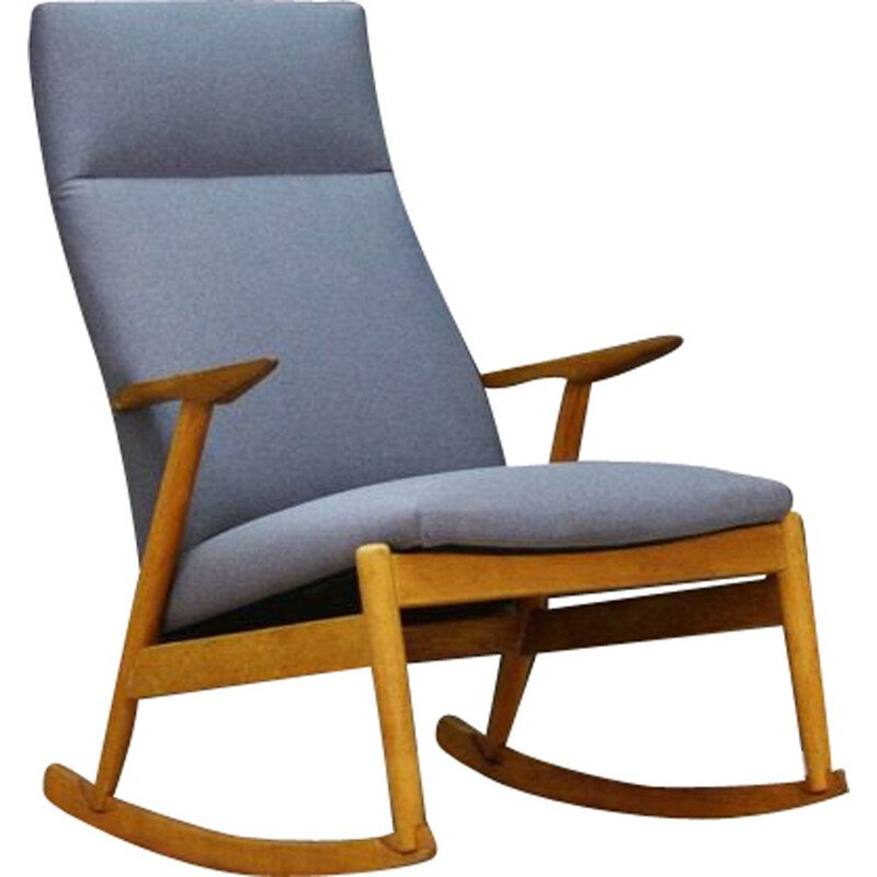 Vintage grey rocking chair, Danish design, 1970