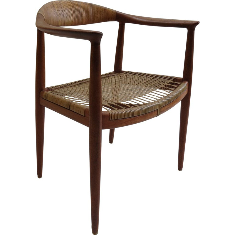 Vintage JH 501 teak chair by Hans J Wegner for Johannes Hansen, 1950