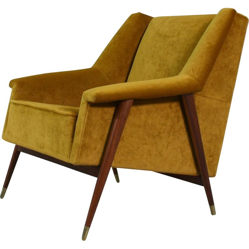 Vintage Portuguese lounge chair, 1960s