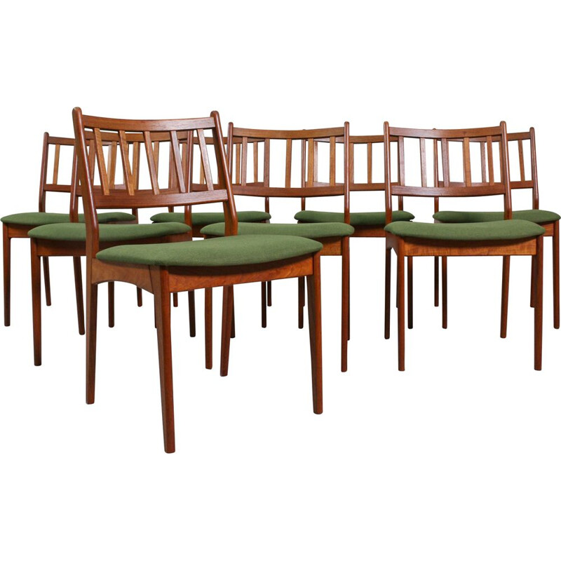 Set of 8 Vintage Danish Dining Chairs, 1960
