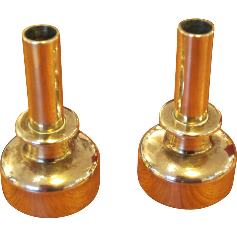 Pair of Scandinavian L92 vintage candlesticks by Hans-Agne Jakobsson