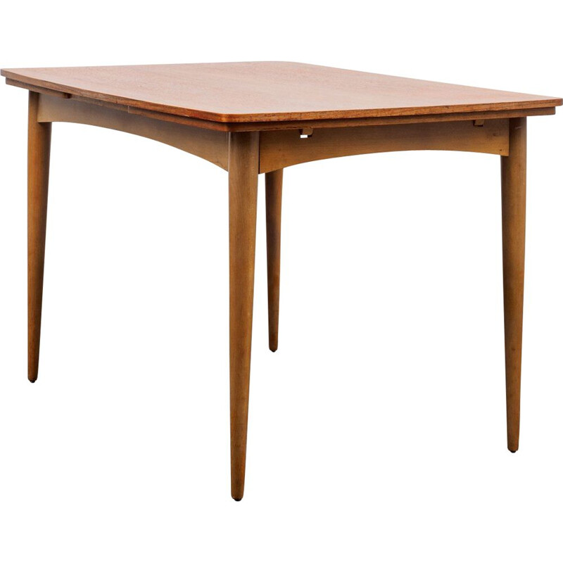 Teak extendable vintage dining table in teak