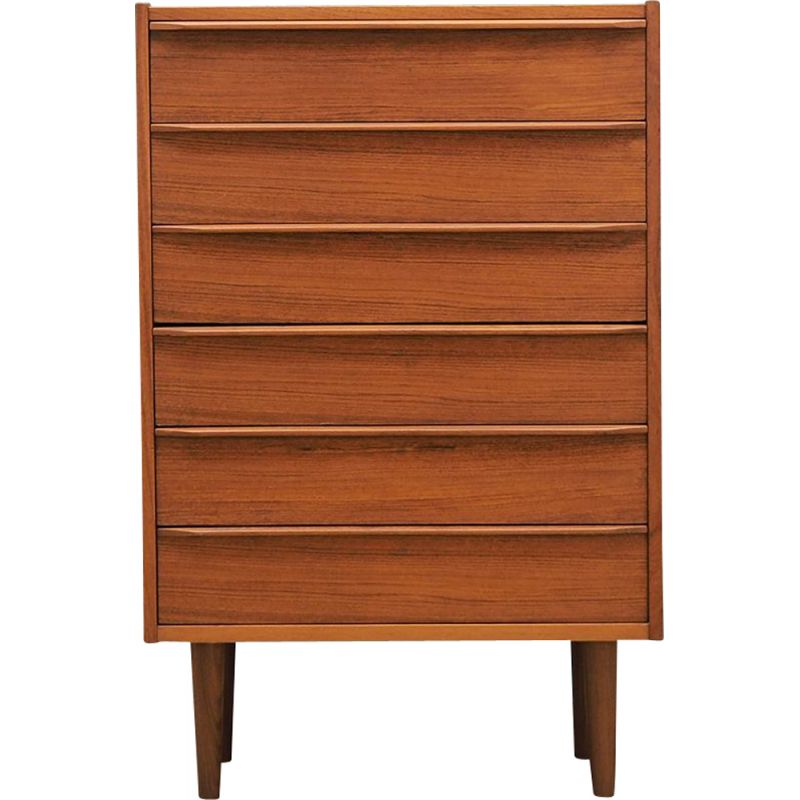 Teak vintage domino chest of drawers  60's and 70's