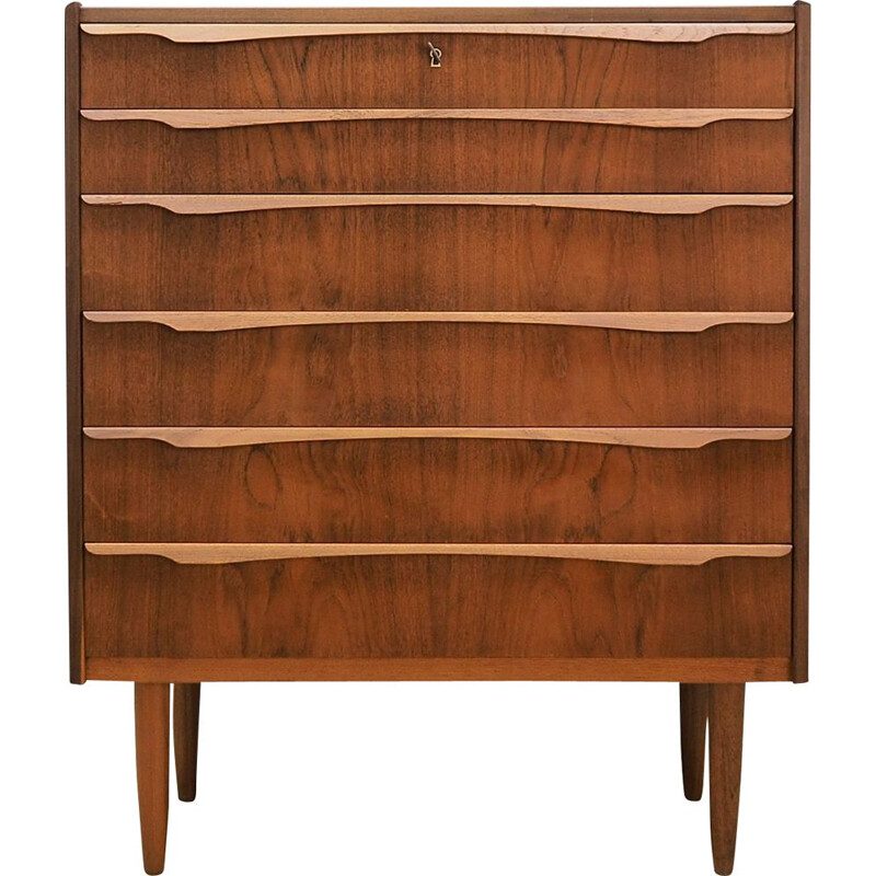 Vintage teak chest of drawers from the 60's and 70's