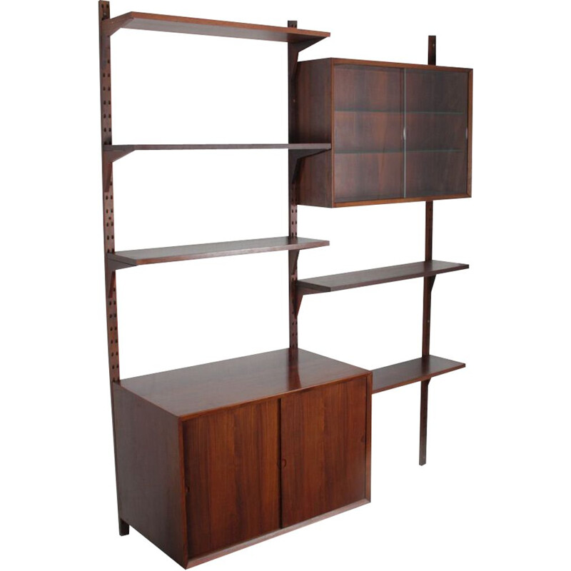 Vintage wall unit by Poul Cadovius, scandinavian design, 1960