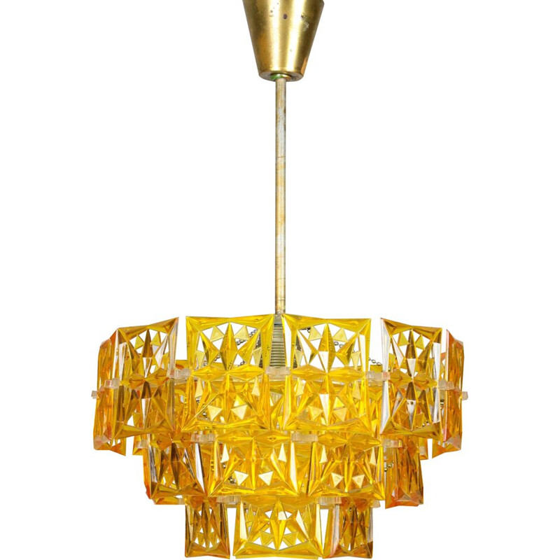 Vintage orange plastic chandelier