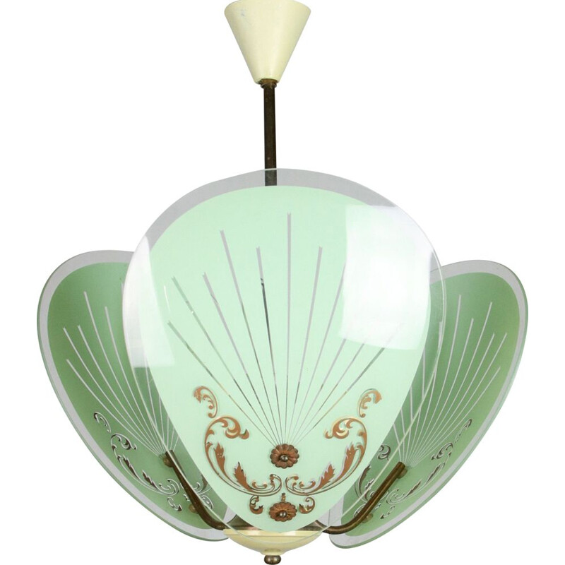 Vintage murano glass pendant light, 1950s