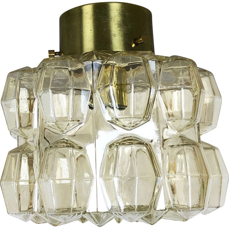"Vintage ""Diamond"" pendant light by Glashütte Limburg, Germany, 1970s"