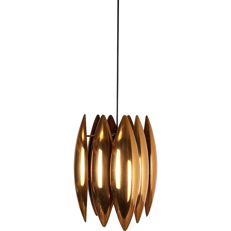 "Original 1960s ""Kastor"" Pendant Light by Jo Hammerborg for Fog & Mørup, Denmark"