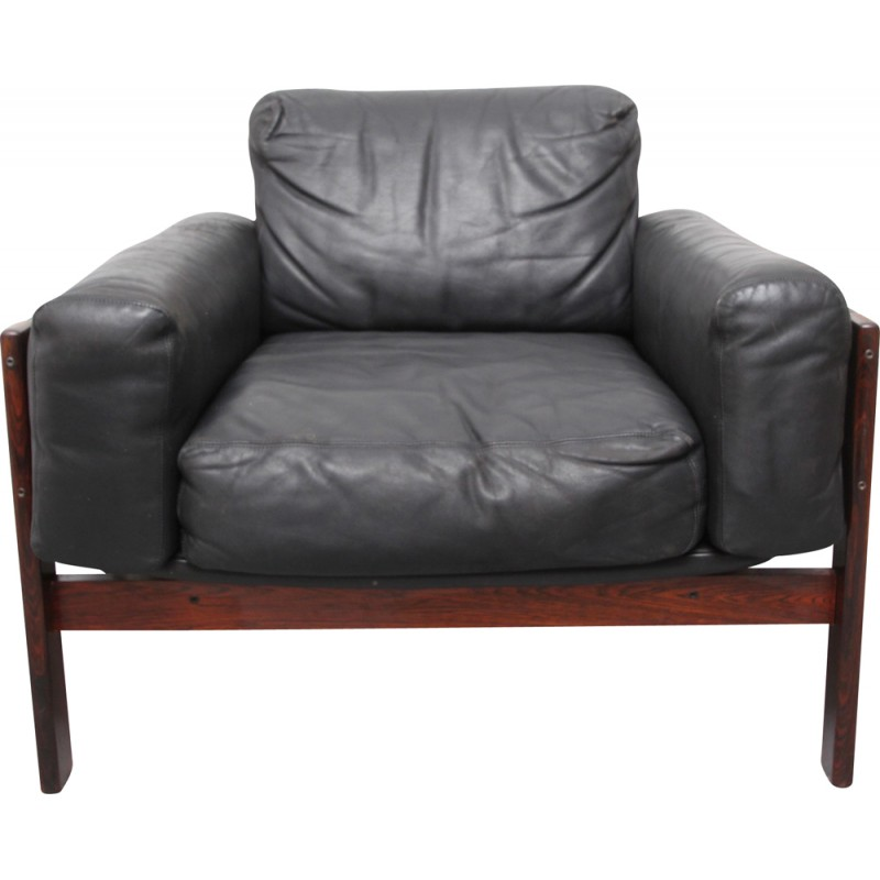 Outstanding Flueline Easy Chair In Rosewood And Leather Sven Ivar Ibusinesslaw Wood Chair Design Ideas Ibusinesslaworg