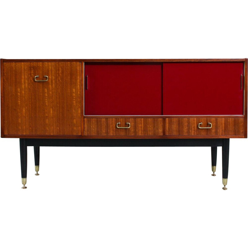 Small vintage Bordeaux Sideboard, 1960