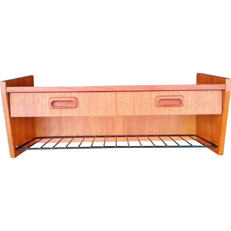 Vintage teak wall shelf