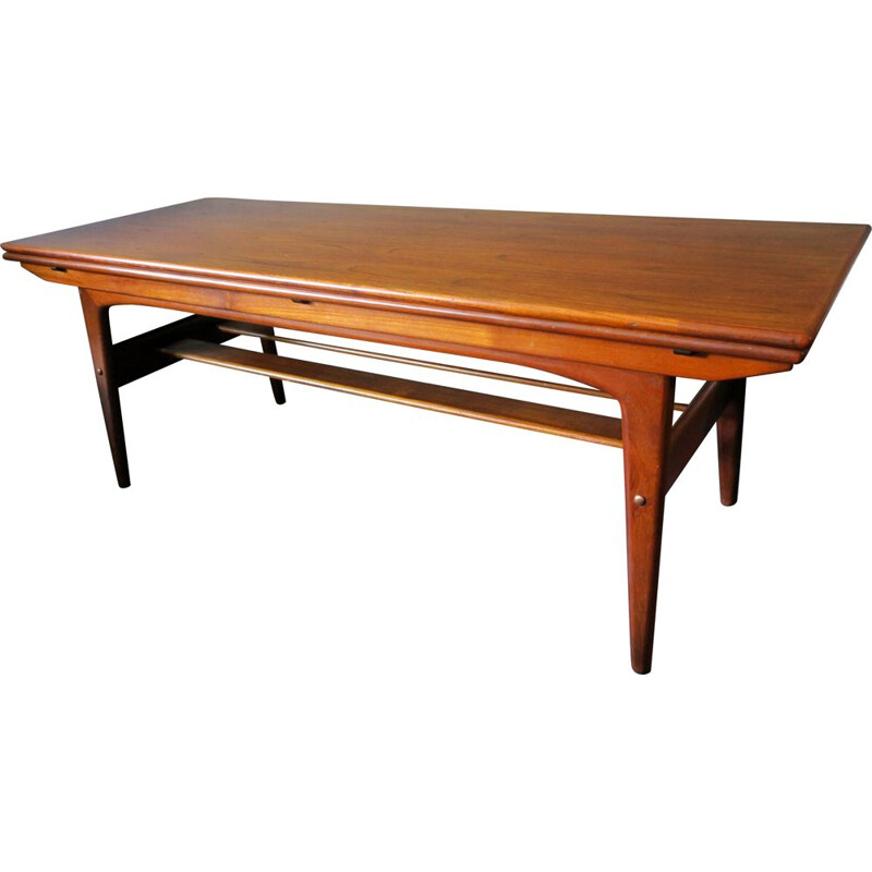 Vintage Teak Adjustable Dining Table by Kai Kristiansen, 1960s