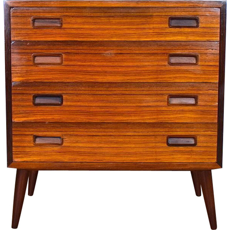 Vintage Rosewood Chest of 4 Drawers by Hundevad, 1960s