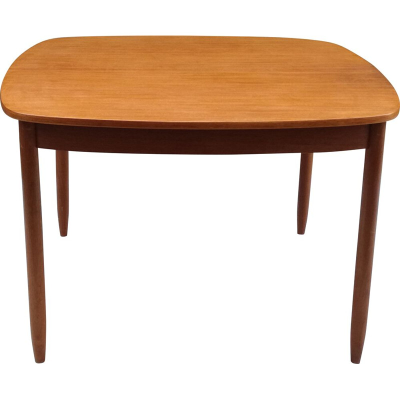 Scandinavian square extensible vintage table, 1960s