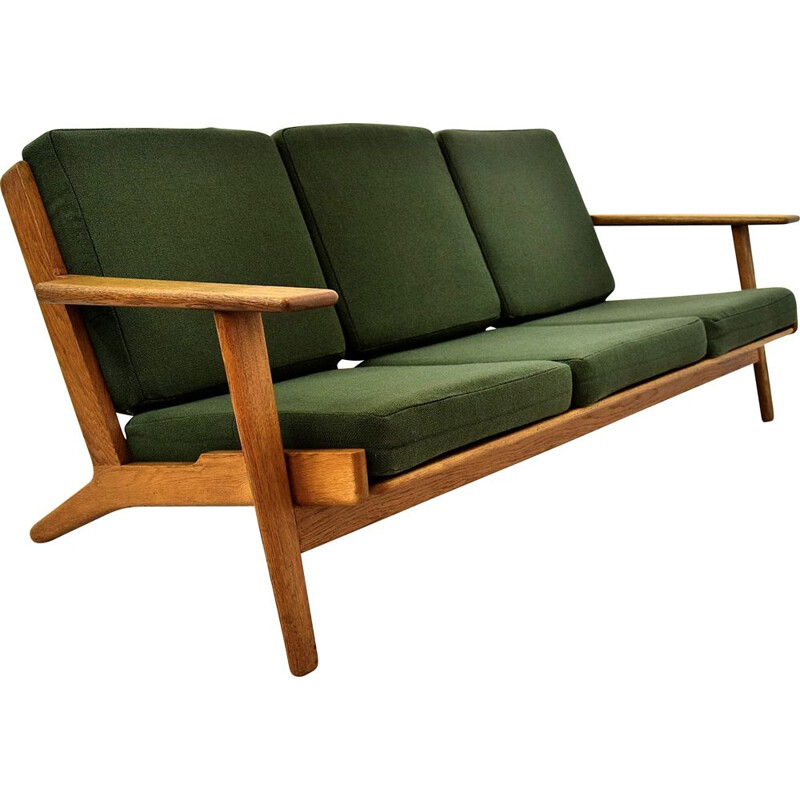 Vintage Oak Sofa GE 290 by Hans Wegner for GETAMA