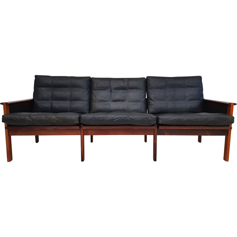 Vintage Danish  3 seater sofa, Capella series by by Illum Wikkelsø, 1970