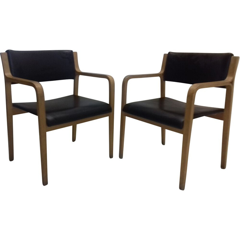 Pair of vintage armchairs by Ludvík Volák, 1960s