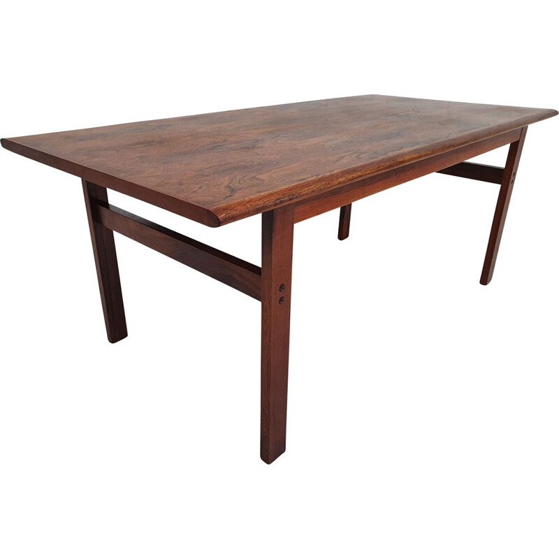 Vintage Danish coffee table, Capella series, by Illum Wikkelsø, 1970