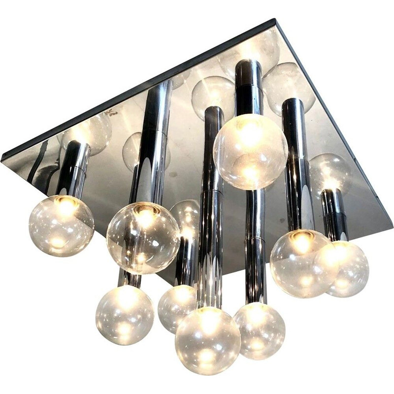 Motoko Ishii ceiling light for Staff 1970's