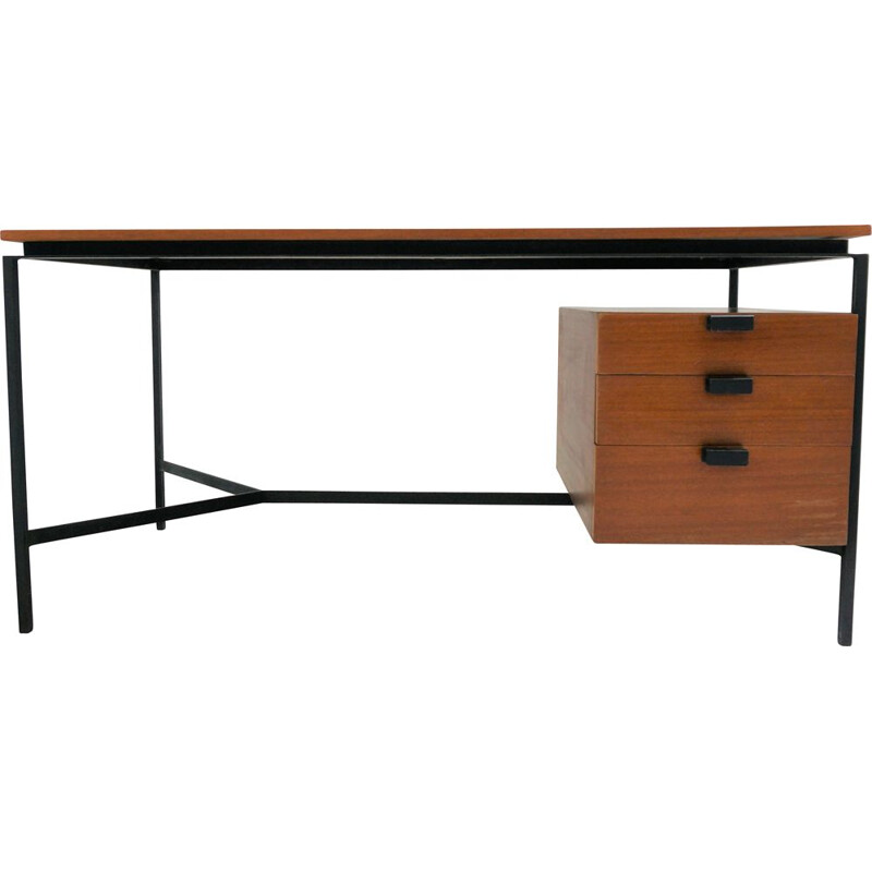 Desk CM 172, Pierre Paulin pedestal with 3 drawers