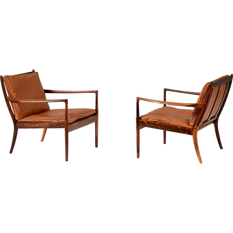 "Pair of ""Samso"" Rosewood Lounge Chairs by Ib Kofod-Larsen 1960s"