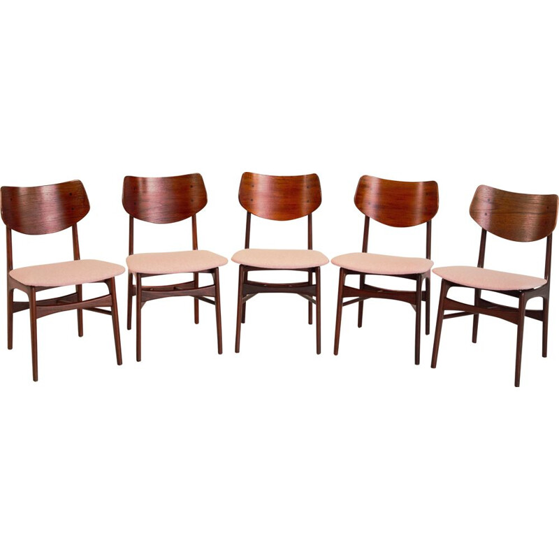Set of 5 vintage chairs model Hamar by Louis Van Teeffelen 1962