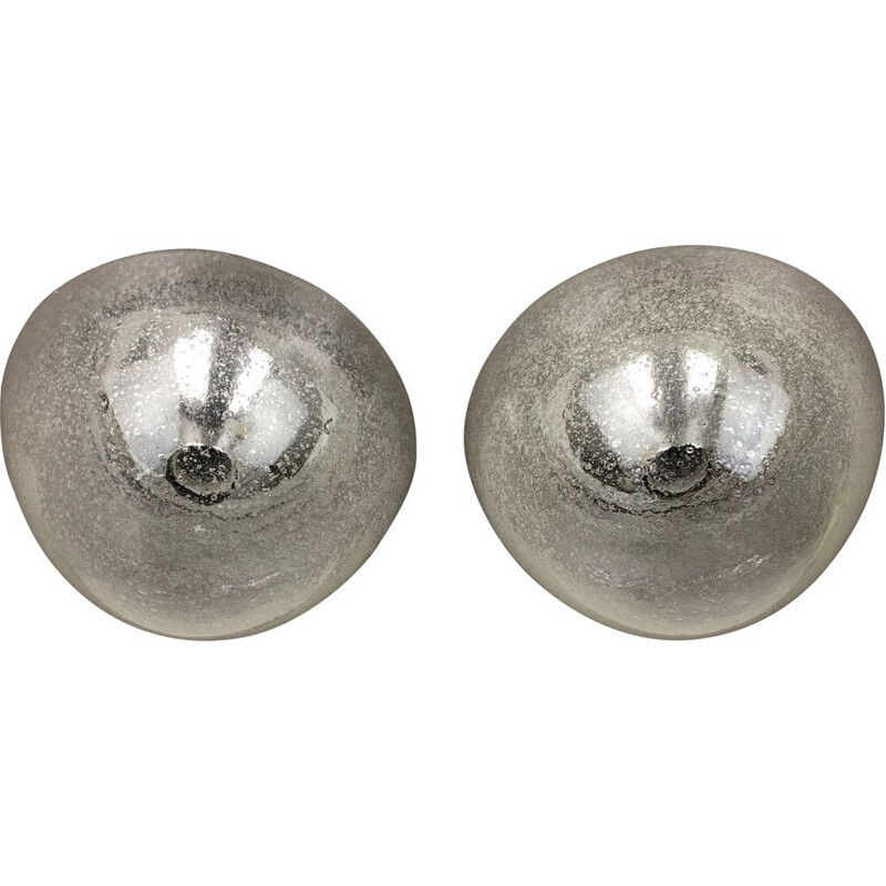 Set of 2 Cone Ice Glass Wall Light Germany