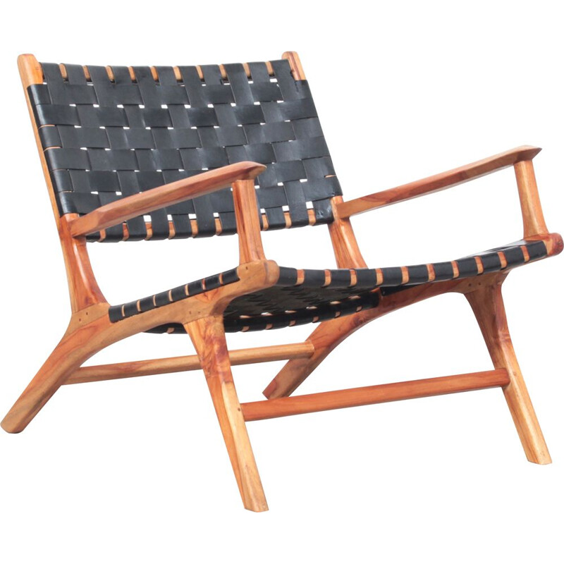 Beautiful danish Lounge Chair Teak Leather 1960s