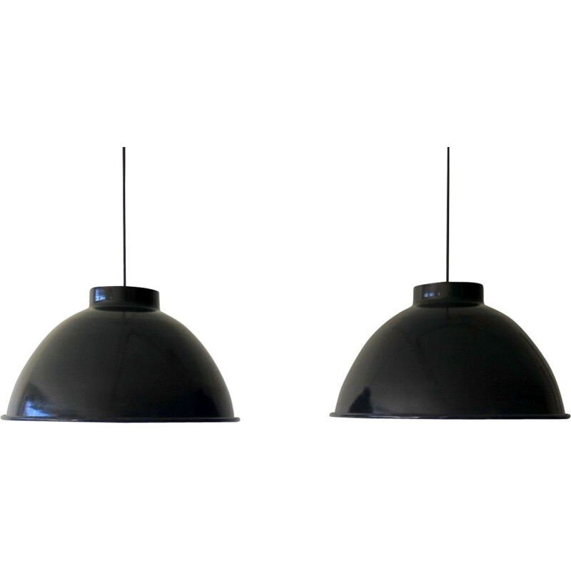 Large industrial pendant lamps, 2 available
