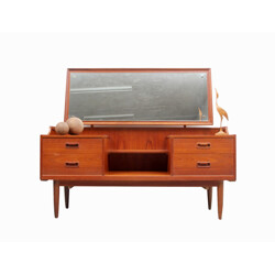 Large Scandinavian dressing table with tilting mirror - 1950s
