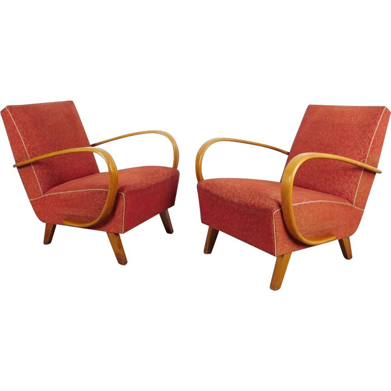 Set of armchair produced by Jindrich Halabala 1950's