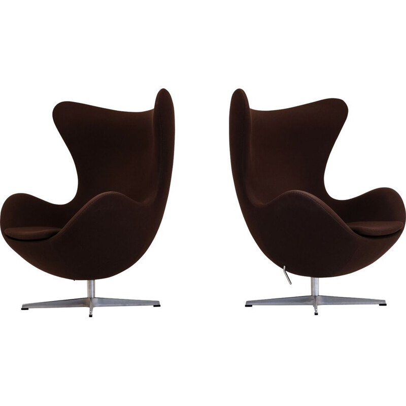 Egg Arne Jacobsen Eggchair, chocolate brown, Fritz Hansen 2007