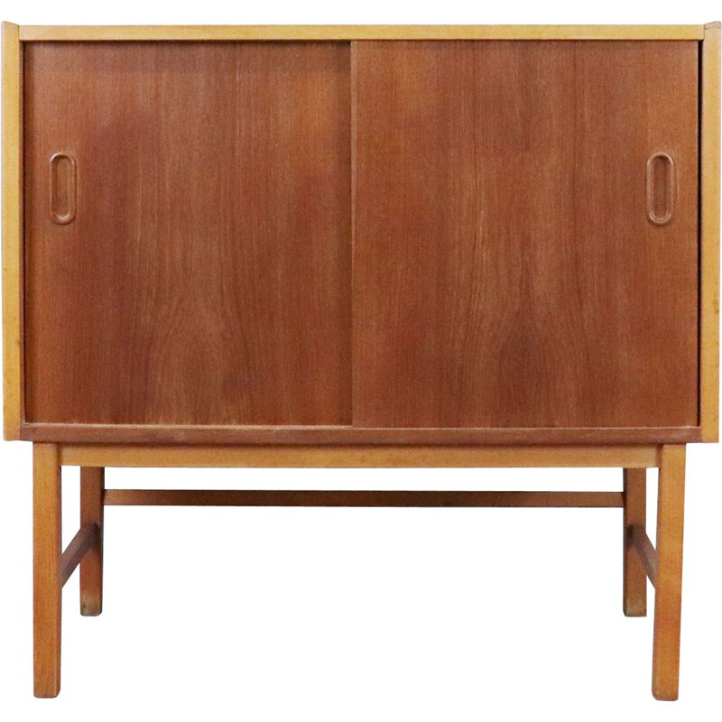 Teak and oak chest of drawers Sweden 1960
