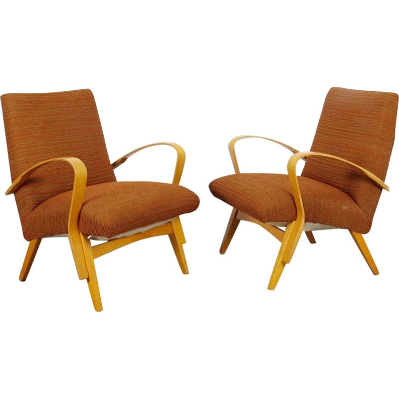 Pair of armchairs produced by Frantisek Jirak, Czechoslovakia 1960's