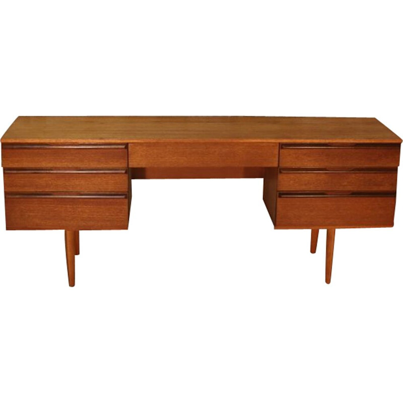 Vintage teak desk dressing table, Scandinavian style, by Avalon, 1960