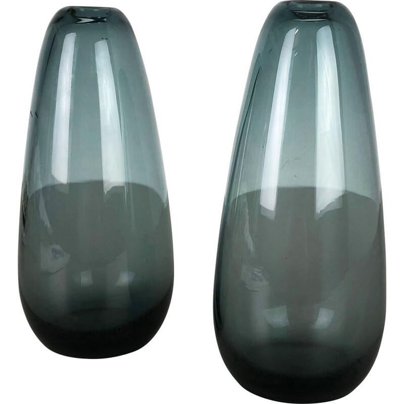 Set of 2 Turmalin Vases Vintage by Wilhelm Wagenfeld for WMF, Germany 1960s