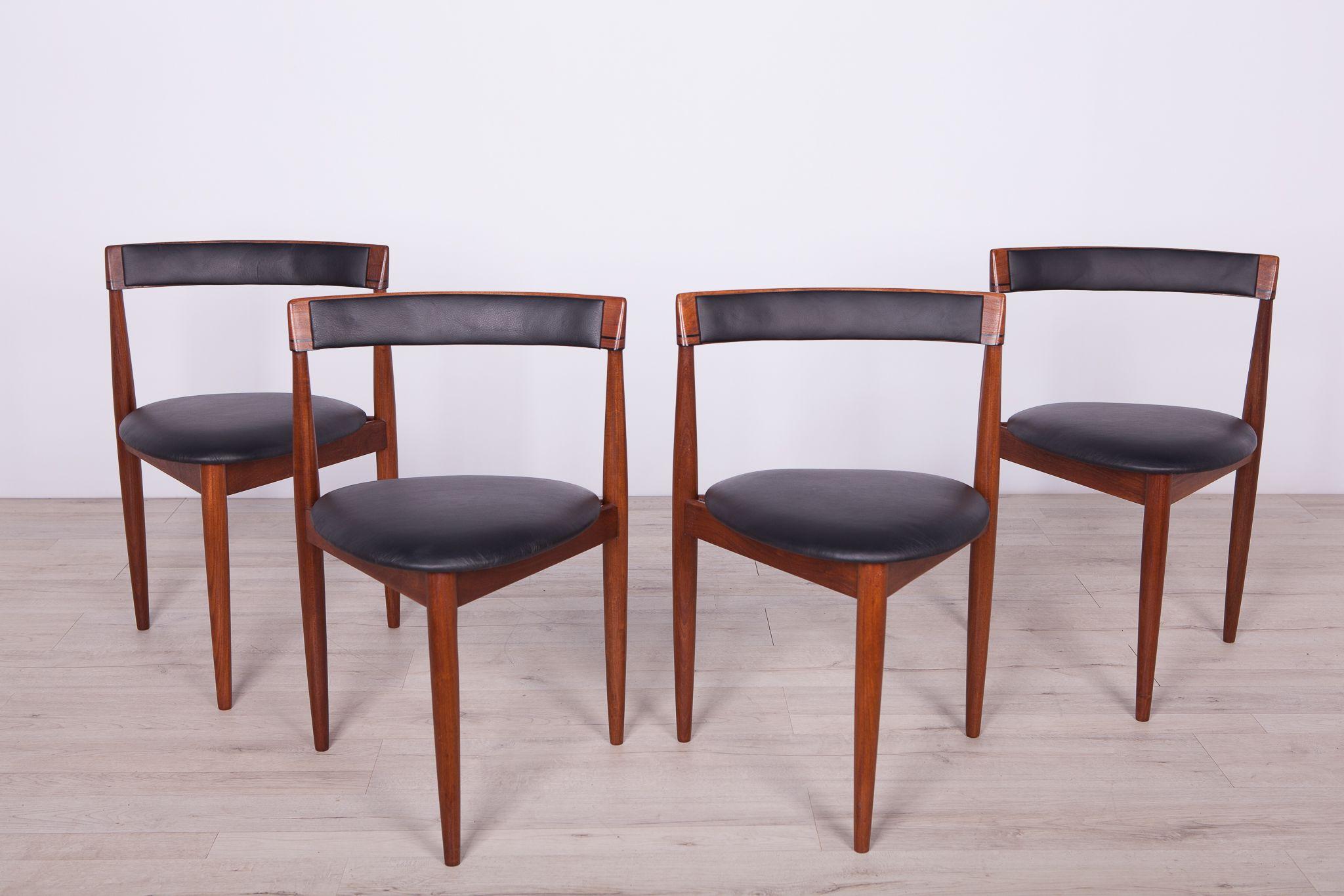Teak Dining Table 4 Chairs Set By Hans Olsen For Frem Rojle 1950s Design Market