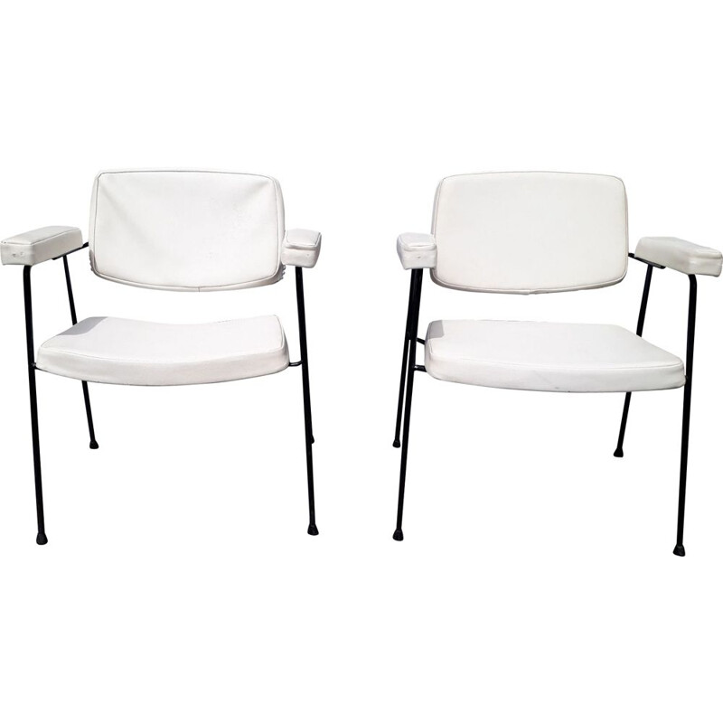 Pair of vintage armchairs CM197 by Pierre Paulin for Thonet 1950