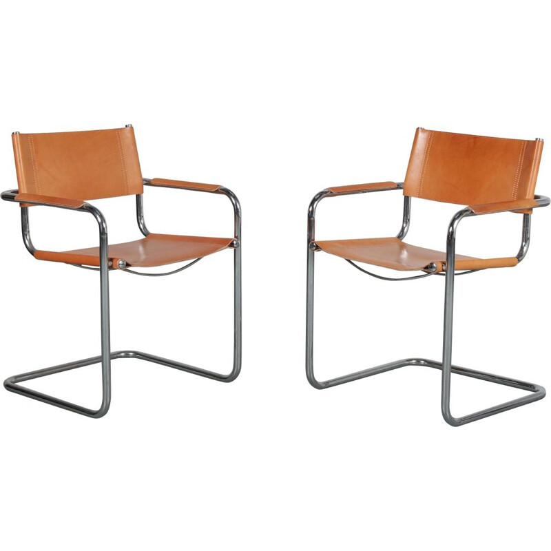 Pair of side chairs manufactured in Italy 1970s