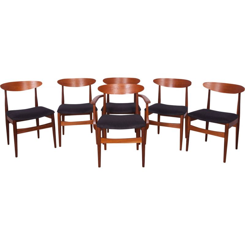 Dining Chairs Set of 6 Mid-Century 1960s
