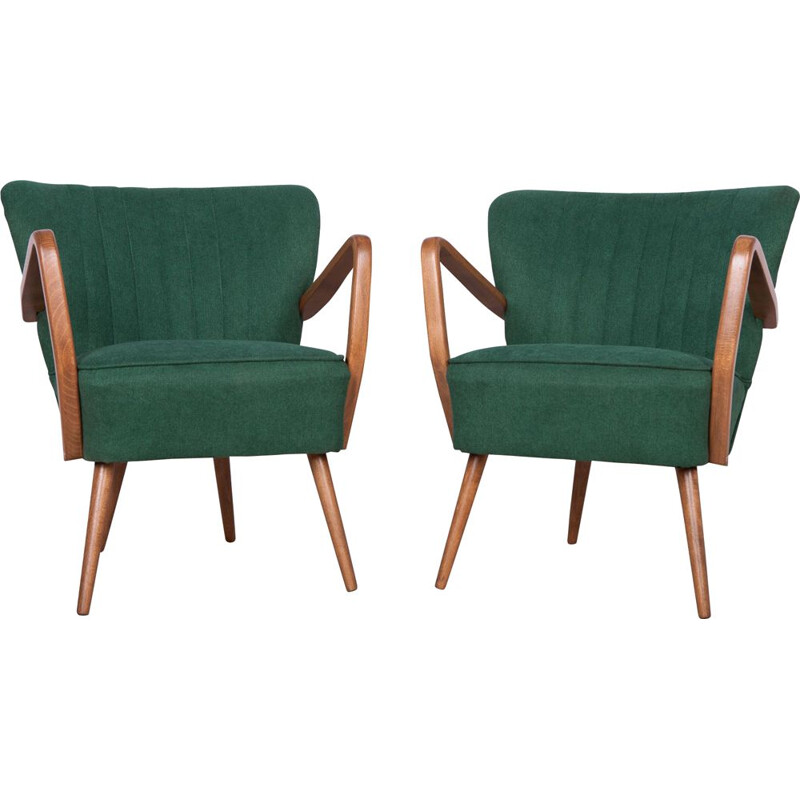 Set of 2 Cocktail Chairs Mid-Century 1950s