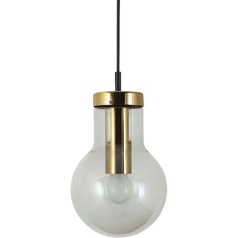 Maxi Bulb (Small) Light smoked glass with brass colored metal socket By Raak