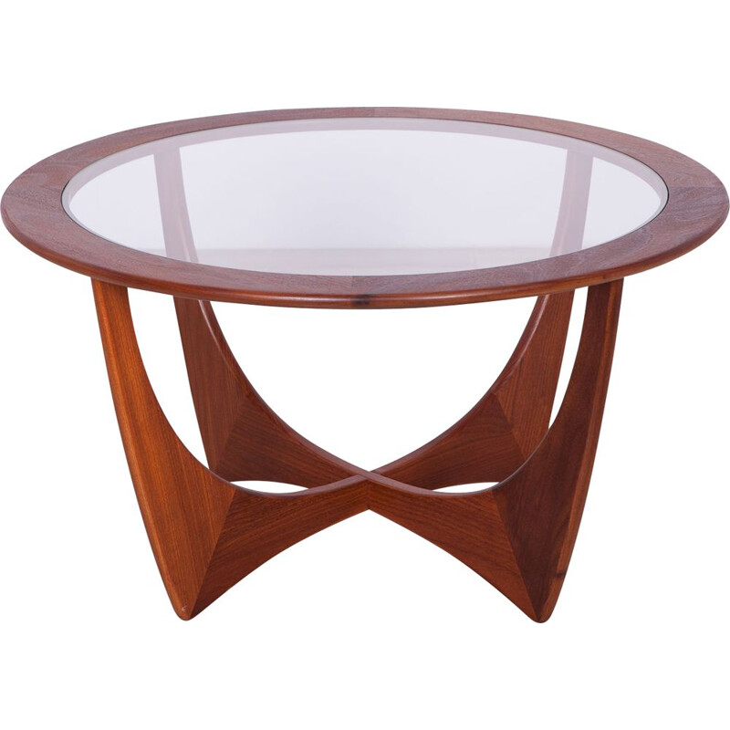 Round Teak Astro Coffee Table by Victor Wilkins for G-Plan 1950s